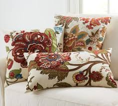 Pottery Barn Lumbar Pillow Covers Riley Floral Embroidered Pillow Covers Pottery Barn