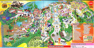 6 Flags Water Park Six Flags Great Adventure 2013 Park Map