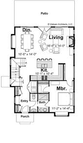three bedroom cottage hwbdo68884 cottage house plan from