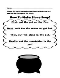 free soup read cut and paste sequencing activity for