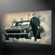movie wall art shenra com steve mcqueen bullitt the movie canvas print picture wall art