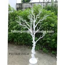 ft124 beautiful artificial white plastic tree for wedding