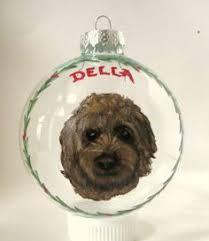 goldendoodle ornament christmas ball custom pet portrait pet