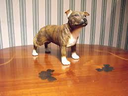 brindle staffordshire bull terrier brown staffy ornament figurine
