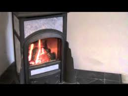 Soapstone Gas Stove Cottage Franklin Gas Stove Burning On High Setting Youtube