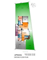 floorplan of a house house design exercise narrow house scheme one eugene t