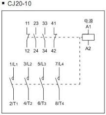 100 contactor wiring diagram a1 a2 four pole contactor iec