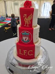 half and half wedding cake liverpool fc ynwa