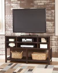simple modern oak flat screen tv stand console table with