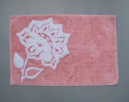 vintage bath mats u0026 rugs etsy
