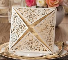cards for marriage laser cut wedding invitations gold blank inner sheet wedding