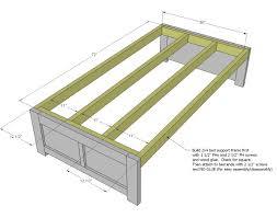 Woodworking Plans For Twin Storage Bed by Ana White Daybed With Storage Trundle Drawers Diy Projects