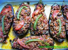 cuisine aubergines karniyarik stuffed eggplants aubergines with ground