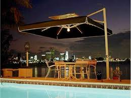 Solar Lights Patio by Dark Brown Rectangle Patio Umbrella With Solar Lights For Round