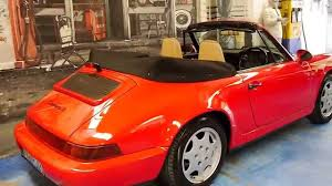 orange porsche 911 convertible 1991 porsche 911 carrera cabriolet youtube