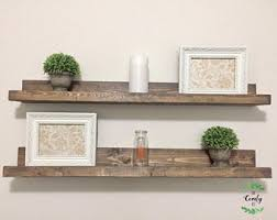 Wooden Shelves Pictures by Picture Ledge Etsy