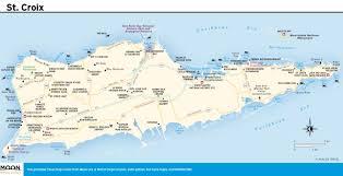 map of vi st croix vi map world maps
