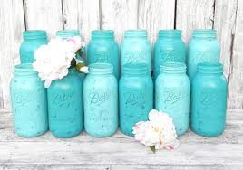 shabby chic mason jars for wedding decor vases centerpiece in