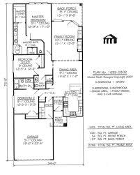 unbelievable 2 bedroom narrow lot house plans 7 3 car