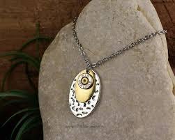 metal necklace designs images Bullet necklace hammered mixed metal 9mm 380 bullet designs inc JPG