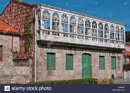 spain galicia corcubion typical house with its glass roof and