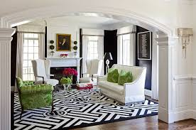 Area Rug Black And White Traditional Living Room With Crown Molding By Kellie Burke