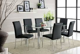 Dining Room Glass Table by 7 Pc Kauai Contemporary