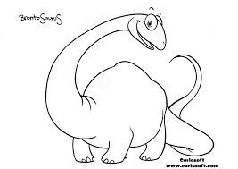 brontosaurus coloring pages getcoloringpages com