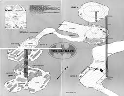blueprints for the batcave from the 1986 batman sourcebook via