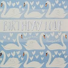 swans birthday love birthday card karenza paperie
