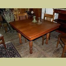 ANTIQUE VINTAGE  SQUARE OAK KITCHEN TABLE WITH GREAT RIBBED - Antique oak kitchen table