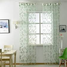 Leaf Design Curtains Aliexpress Com Buy Panel Leaf White Sheer Design Curtain