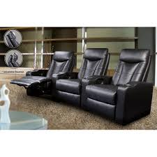home theater recliner coaster cyrus black leather home theater seating recliner u2013 b