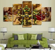 Ninja Turtle Wall Decor Aliexpress Com Buy Unframed Teenage Mutant Ninja Turtles
