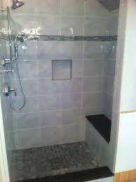 new shower stall with built in bench renovated bathrooms new shower stall with built in bench