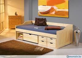 canapé lit simple canapé lit simple 90 faya avec des tiroirs blanc ou nature a