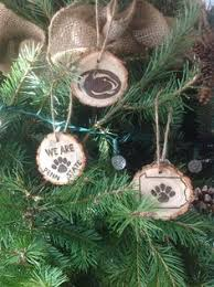 custom wood burned love christmas ornament personalized with
