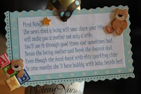 baby shower poem gifts baby shower decoration