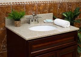 Bathroom Countertop Decorating Ideas Bathroom Brown Wooden Bathroom Vanities With Tops Plus Single