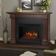 real flame 8011e co callaway grand electric fireplace in chestnut oak