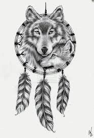 tattoo design wolf dream catcher by rozthompsonart on deviantart