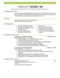 registered resume exles best intensive care unit registered resume exle livecareer