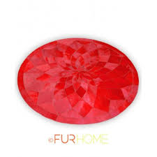 Round Red Rug Round Red Cowhide Leather Rug