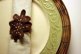 thanksgiving napkin rings craft the creative place diy tuesday felt leaves napkin rings