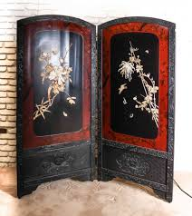 Japanese Room Dividers by A Japanese Bone Ivory And Mother Of Pearl Inlay Two Panel