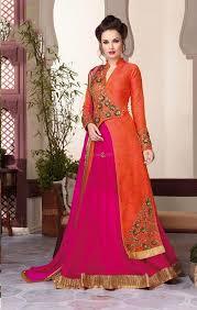 engagement lengha buy wedding lehenga design for engagement in dual orange