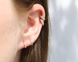 hoop studs 9ct gold tiny diamond studs diamonds stud earrings