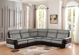Reclining Leather Sectional Sofa Von Furniture Thurston Reclining Leather Sectional In Havana