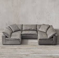 restoration hardware cloud sofa reviews amazing cloud cube modular leather sectionals restoration hardware