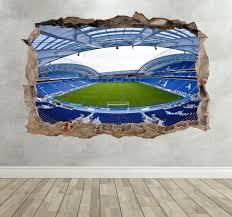 brighton fc stadium inspired wall smash childrens bedroom art brighton fc stadium inspired wall smash